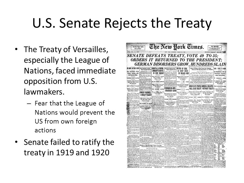 opposition of treaty of versailles Opposition to the treaty of versailles the vast majority of germans understood that there would be consequences for their part in the great war, but they believed .