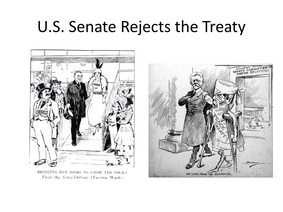senate rejects the league of nations Senate rejected the league of nations because of isolationists in the us, isolationists wanted america to keep away from european affairs, they.