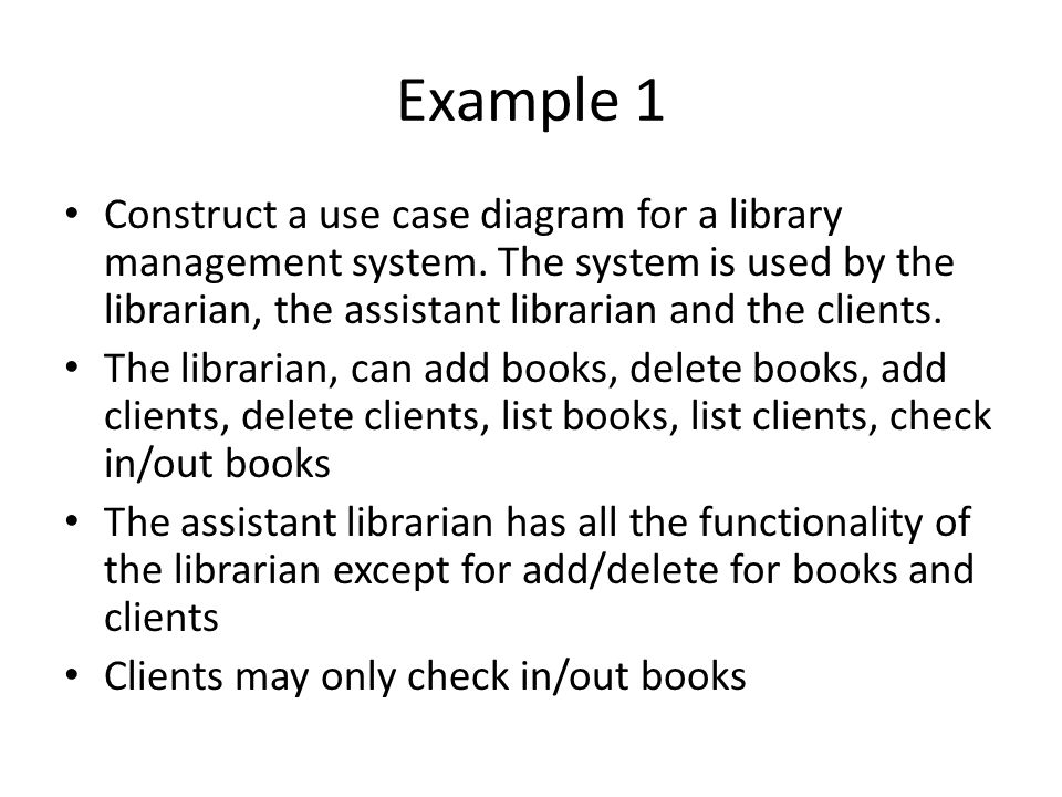 Use case diagrams week 1 lab ppt video online download example 1 construct a use case diagram for a library management system the system is ccuart Choice Image