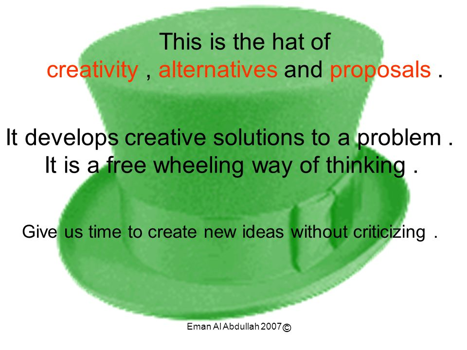 creativity , alternatives and proposals .