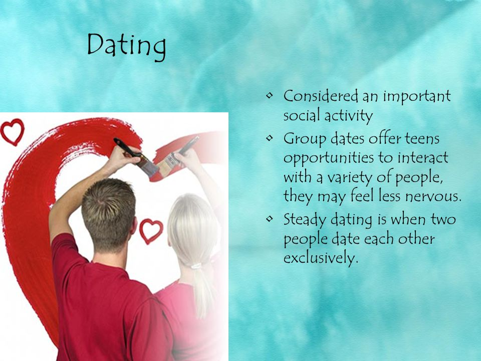 Dating Considered an important social activity