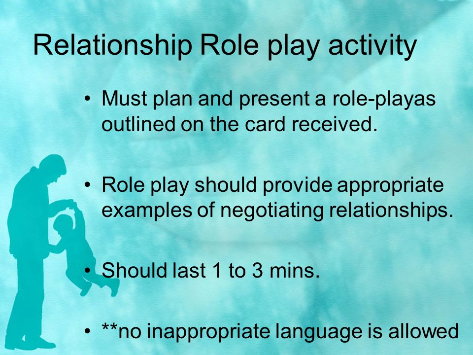 Relationship Role play activity