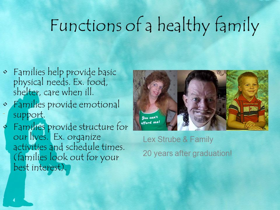 Functions of a healthy family