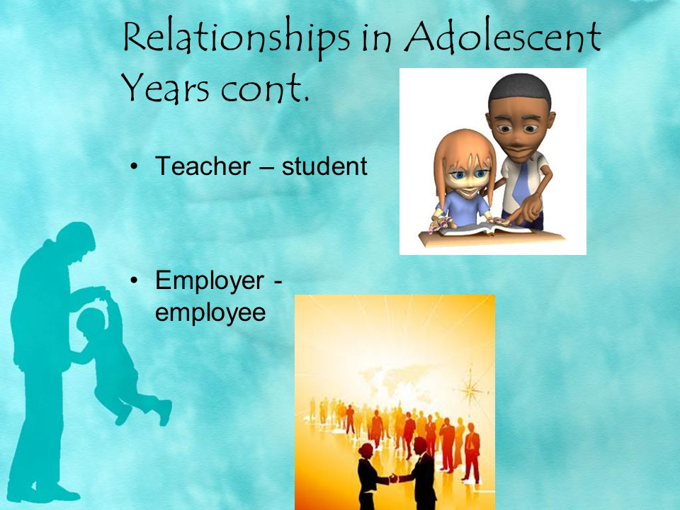 Relationships in Adolescent Years cont.