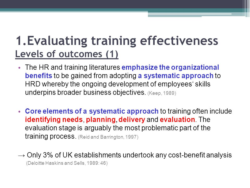 staff training and effectiveness Effectiveness among organizations receiving training services from external  training  serve various needs including organizational development and  employee.