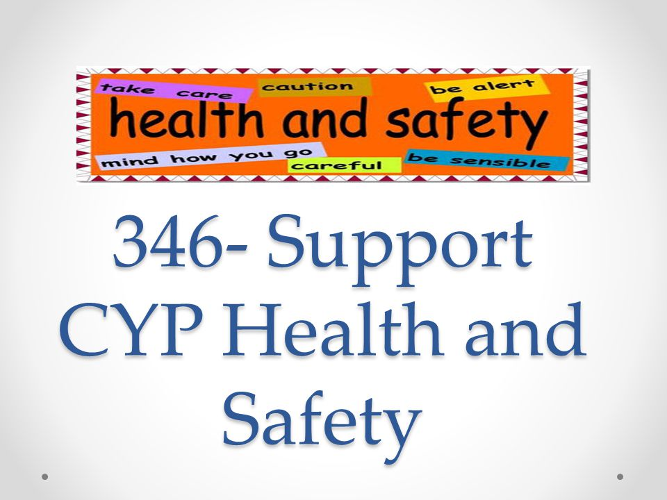 supporting young peoples health and safety This is a sample report on 'support children and young people's health and safety' instant assignment help offers free assignment samples to the students.