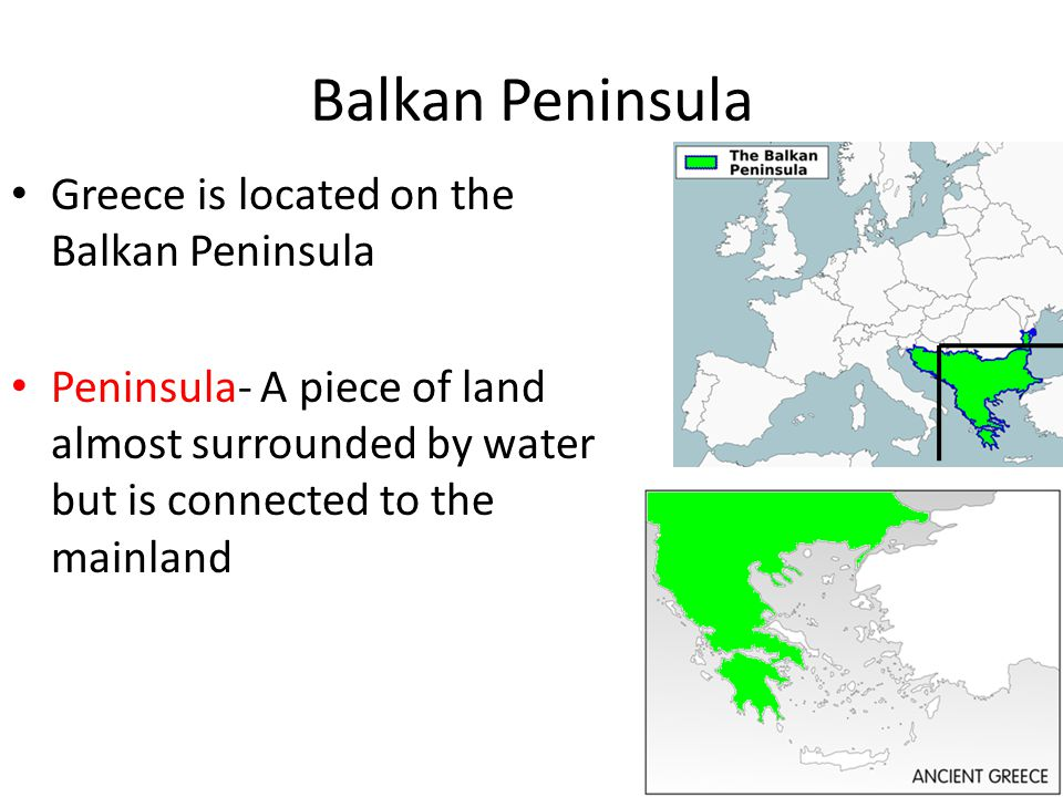ancient greece is a peninsula located Ancient greece geography how has the  farm surrounded by seas greece is located on the balkan peninsula made trade easier  how did the geography of greece.