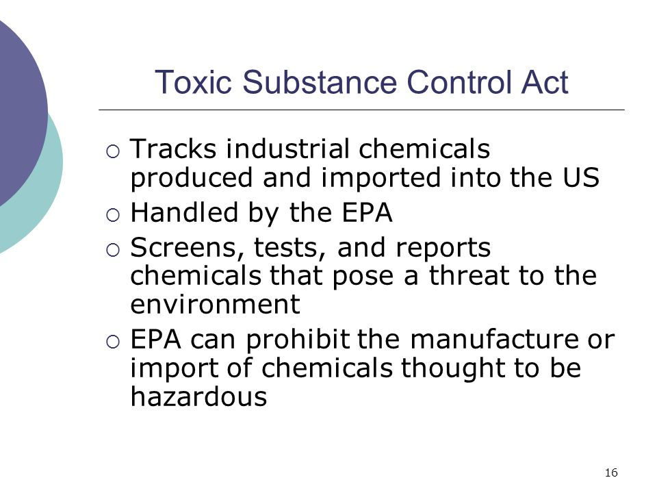 Toxic Substance Control Act