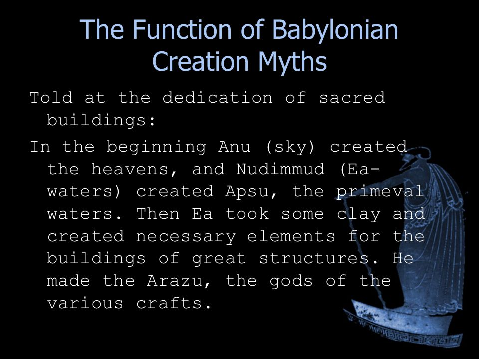 myths of creation Creation myths and other mythology around the world theories about their emergence and meanings, by stefan stenudd, swedish author and historian of ideas.