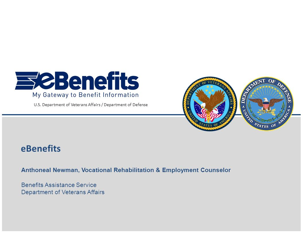 U.S. Department of Veterans Affairs / Department of Defense