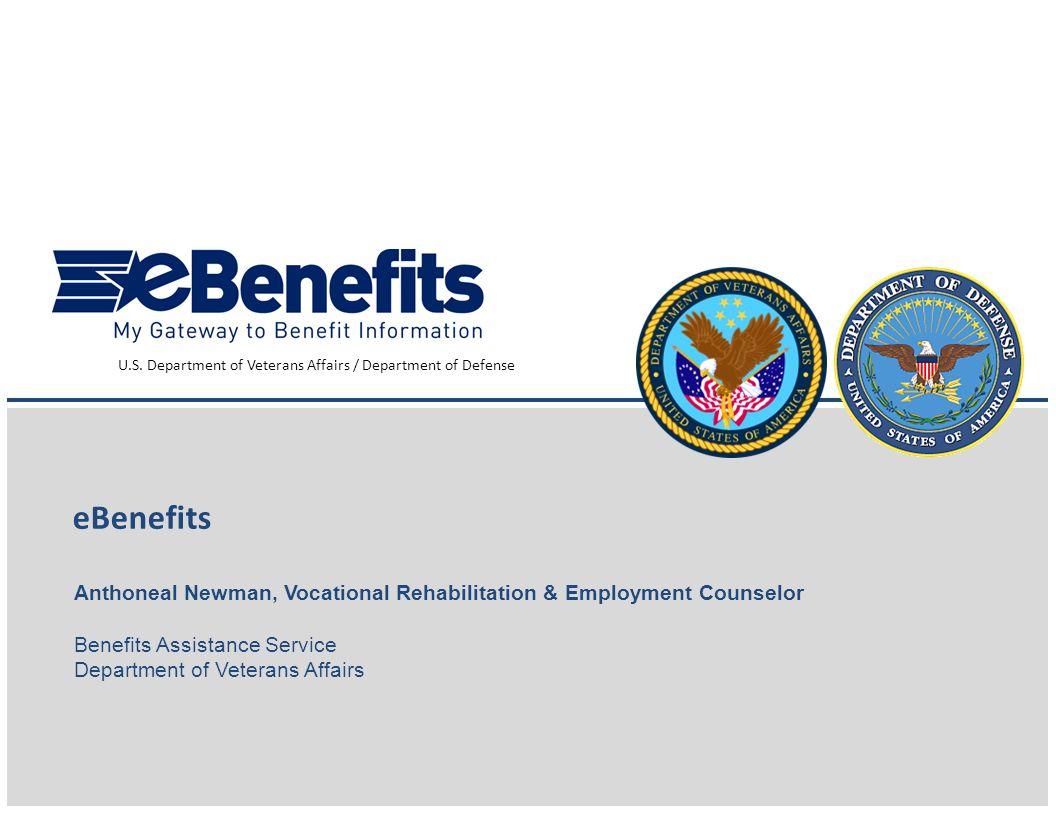 U.S. Department of Veterans Affairs / Department of Defense