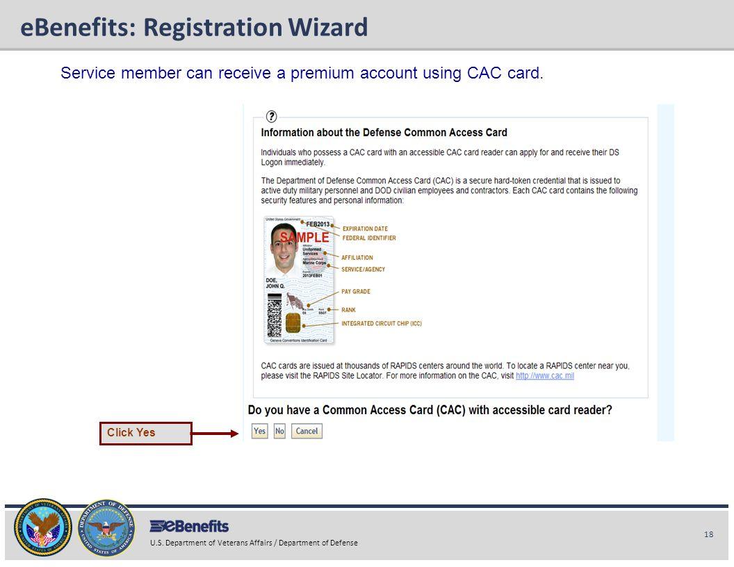 eBenefits: Registration Wizard