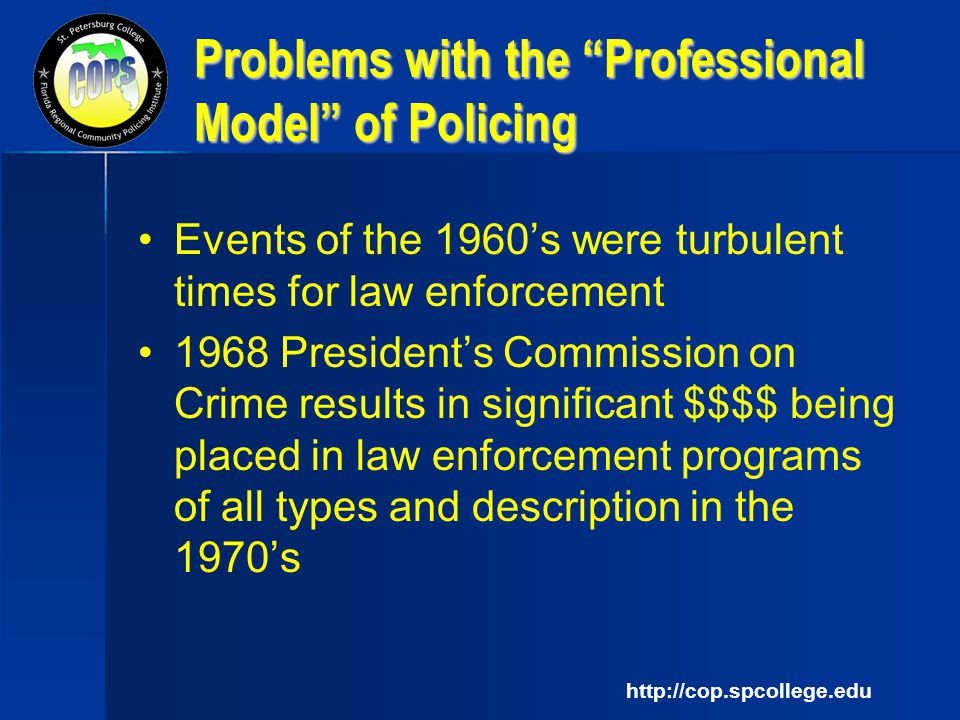 an introduction to the community based policing law enforcement for the 20th century Introduction police-crime outcome-oriented elements: results from  national polling data iv  i the impact of community policing on general,  outcome, and process measures ii  at the end of the 20th century, substantial  majorities of the american public expressed positive views of how police treat the  public.