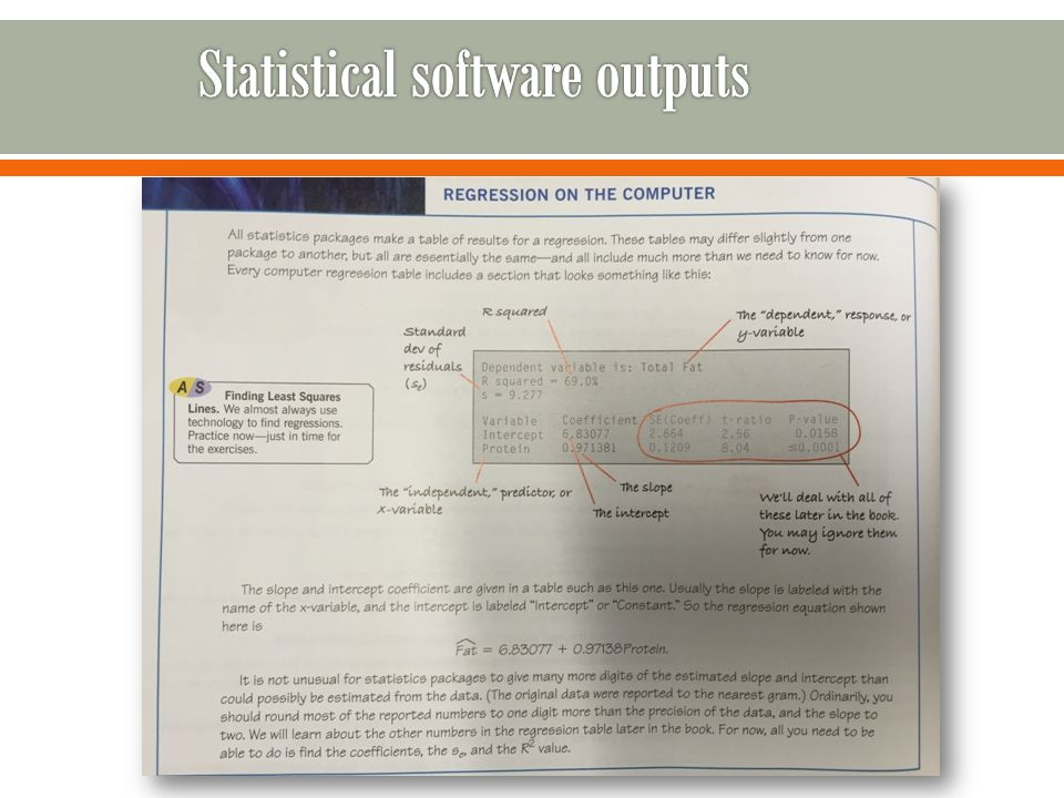 Chapter 8 linear regression ppt download 39 statistical software outputs ccuart Choice Image