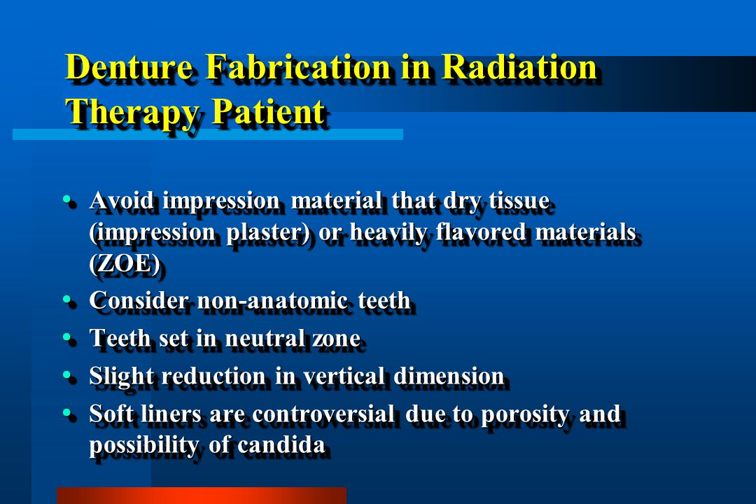 Denture Fabrication in Radiation Therapy Patient