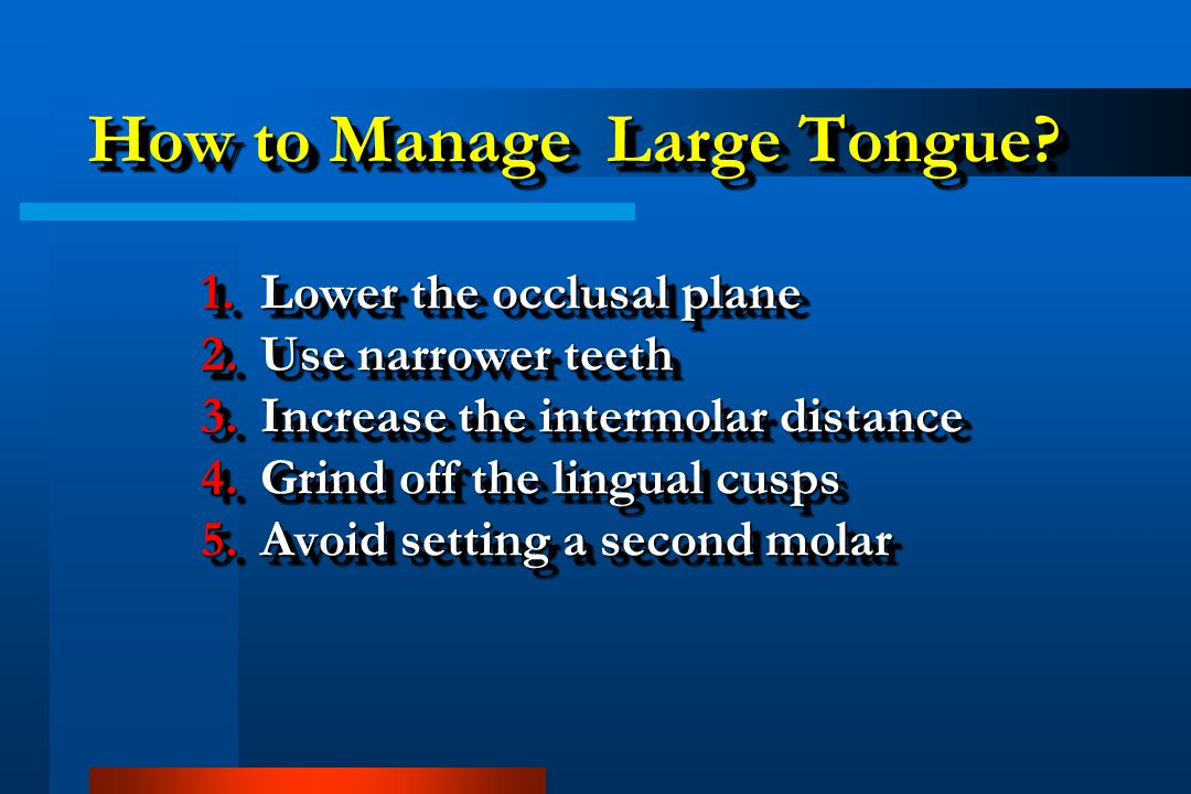 How to Manage Large Tongue