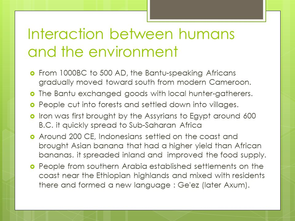 interaction between humans and the environment Environmental engineers study and manage the effects of humans and other activity on the natural and human-made environment so that populations can thrive and live as healthy of lives as possible they work in many different major categories of environmental protection, including water, air, land and toxic materials.