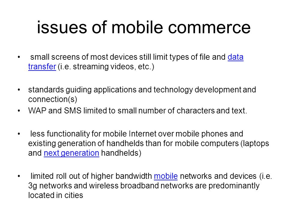 issues of mobile commerce