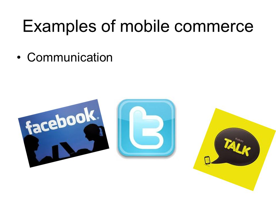 Examples of mobile commerce