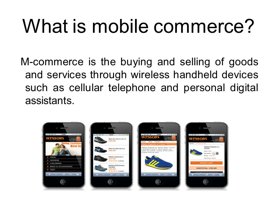 What is mobile commerce