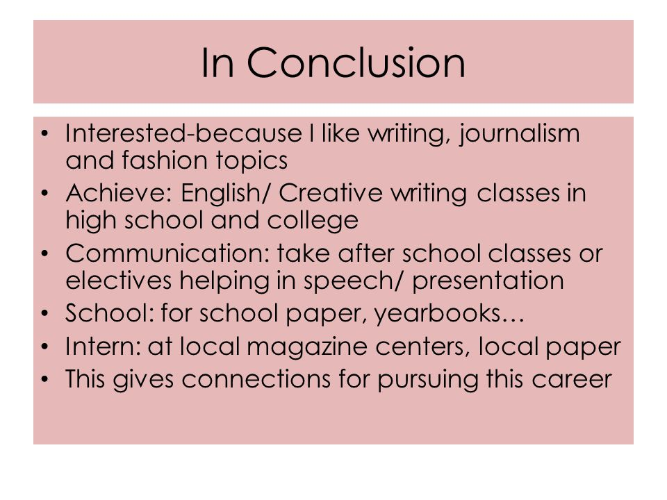 magazine editor by eunice kim ppt in conclusion interested because i like writing journalism and fashion topics