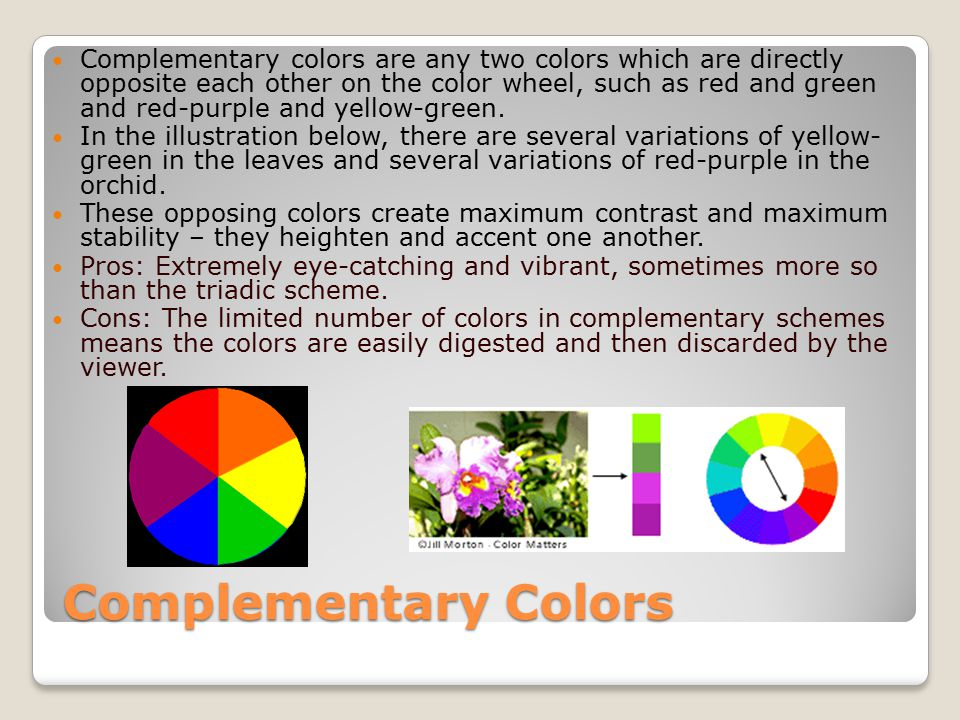 Colors Directly Opposite Color Wheel color theory digital media. - ppt download