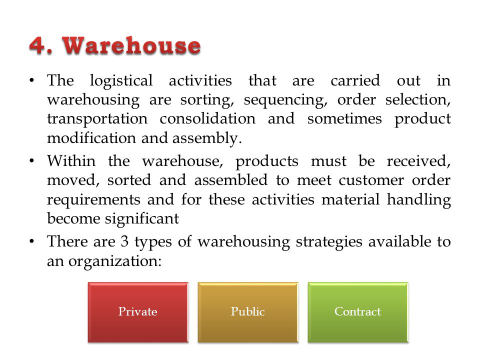 4. Warehouse