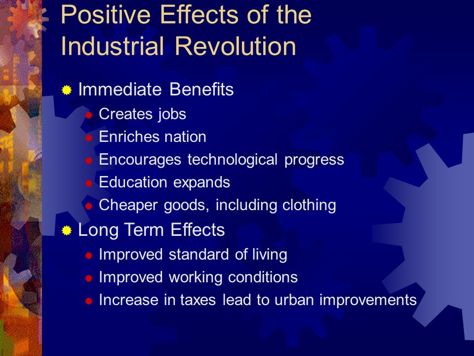 effects of industrial revolution on economic field How will the fourth industrial revolution affect economic policy work revolution 40-50% of jobs are expected to be transformed or disappear i would like to try to come to some tentative conclusions as to the effect of the fourth industrial revolution on economic policy.