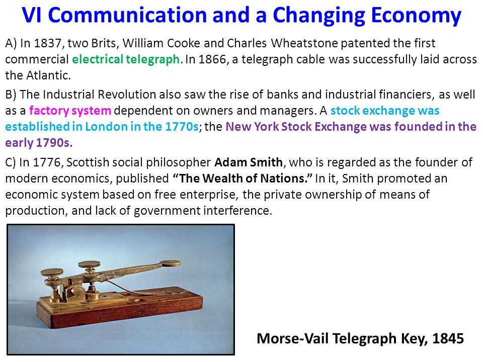 VI Communication and a Changing Economy