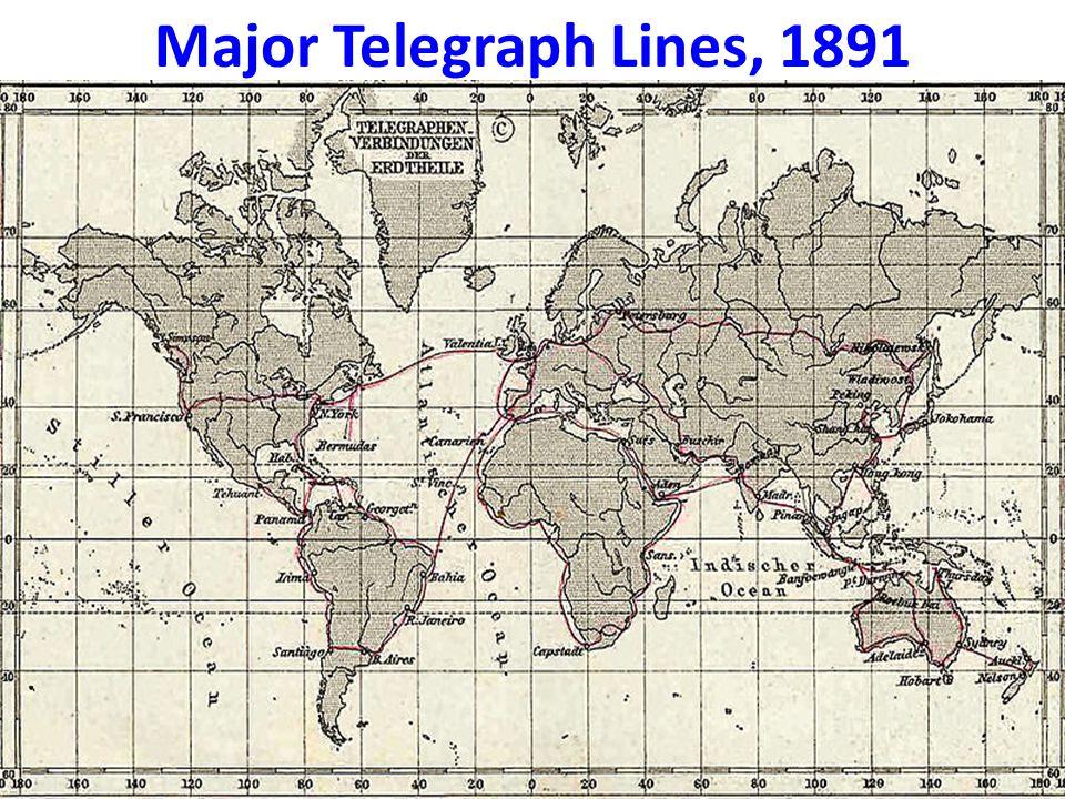 Major Telegraph Lines, 1891