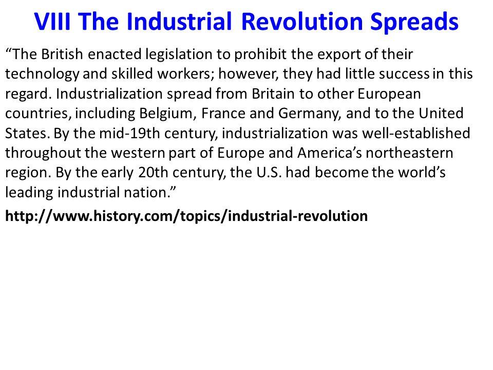 VIII The Industrial Revolution Spreads