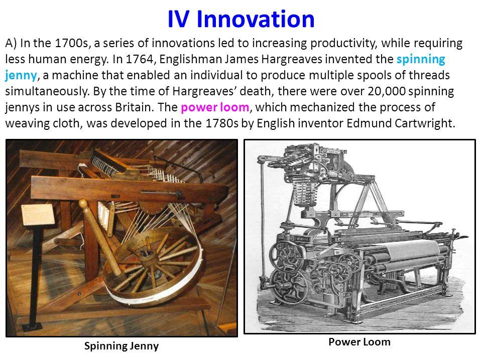 IV Innovation