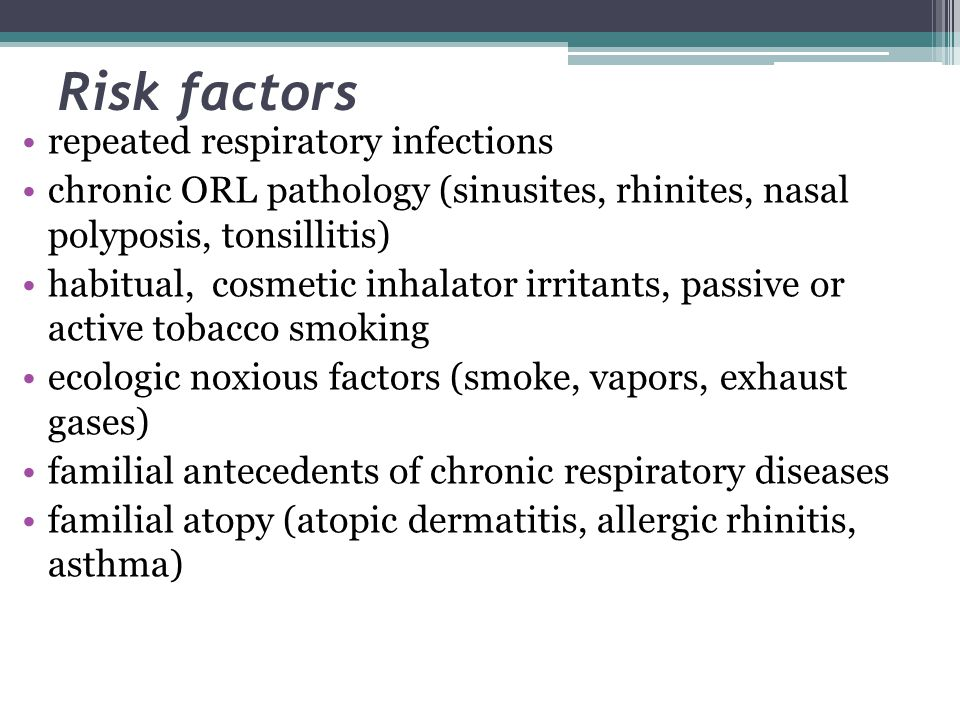 Risk factors repeated respiratory infections
