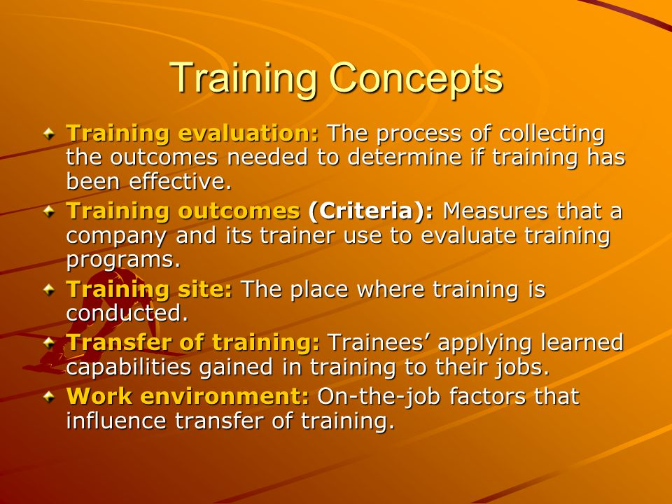 training the trainer on training outcomes What people are saying about the national landlord training program, train-the-trainer seminar review pdf versions of the program manuals expected outcomes of the national train-the-trainer seminar.