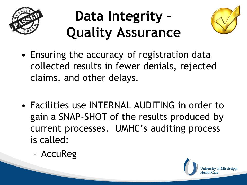 Data Integrity – Quality Assurance