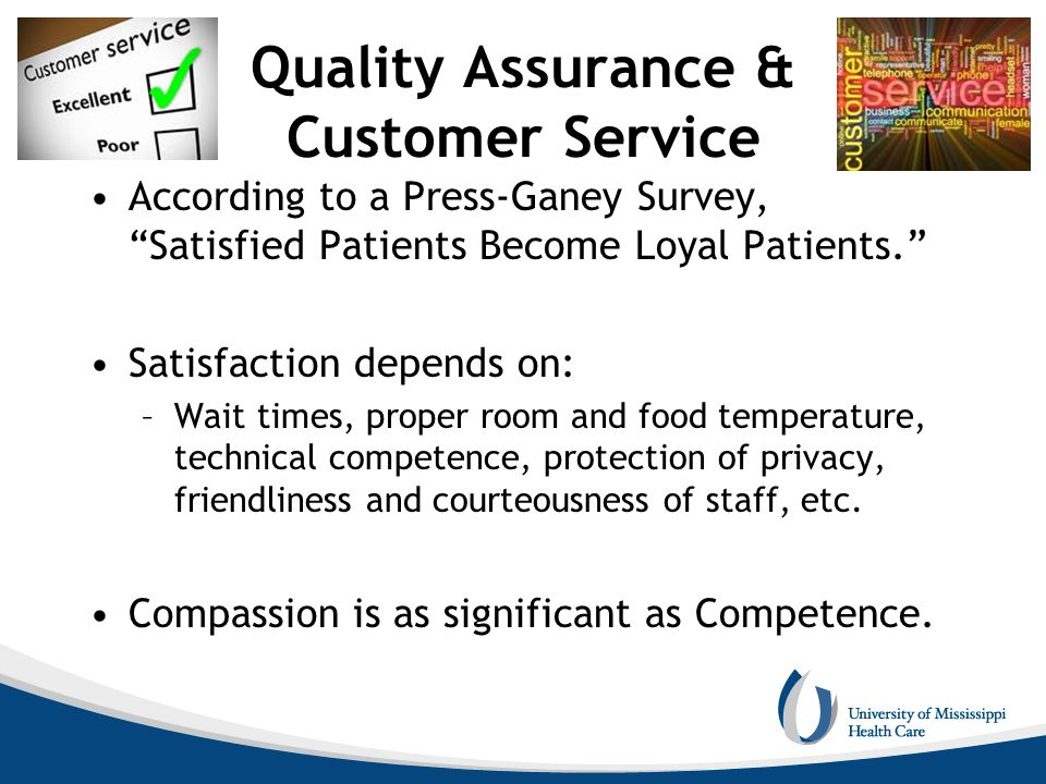 Quality Assurance & Customer Service