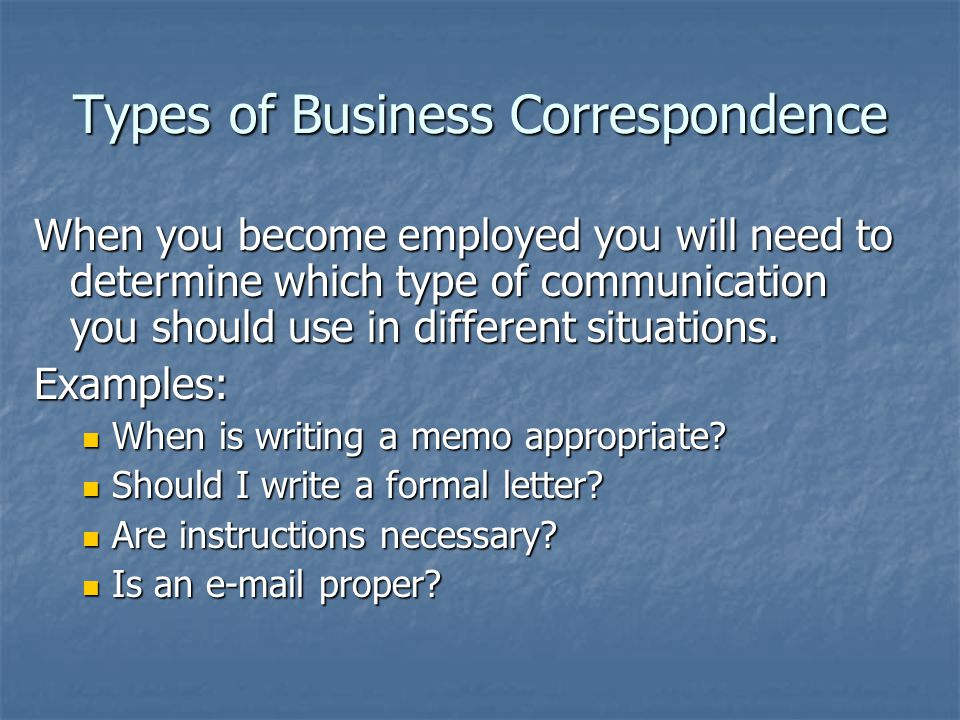 a formal correspondence guidelines