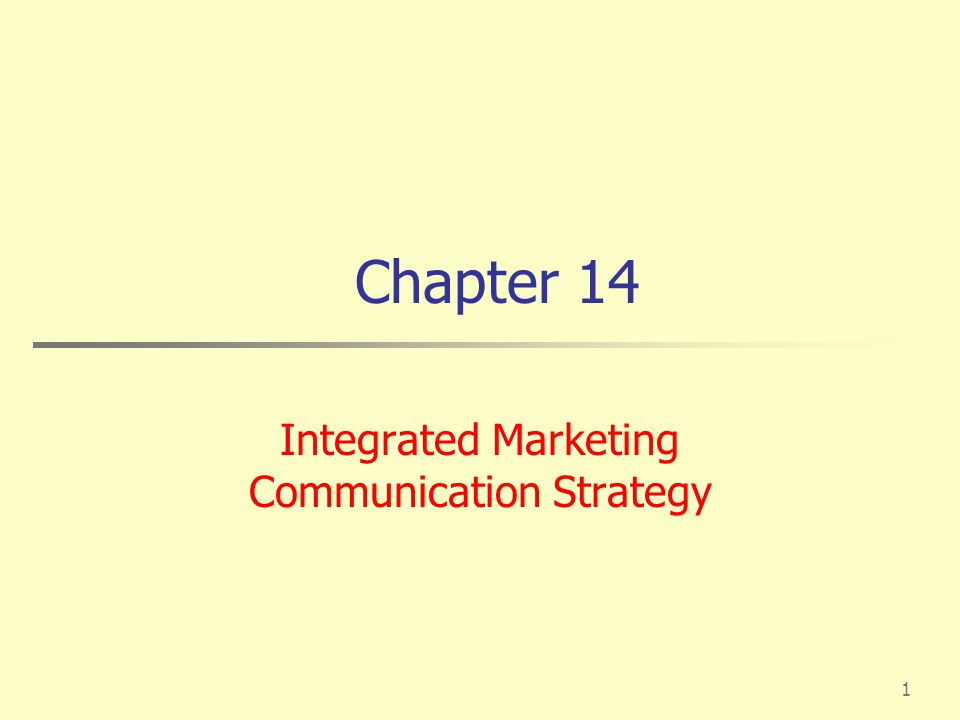 Integrated Marketing Communication Strategy - Ppt Download