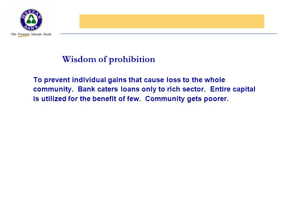 Wisdom of prohibition