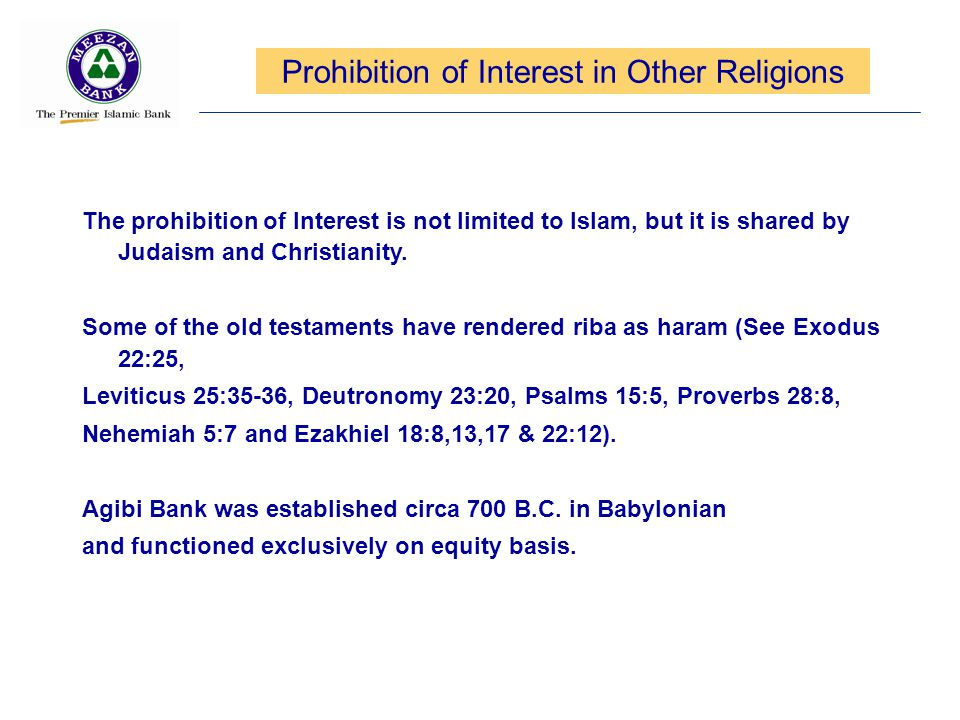 Prohibition of Interest in Other Religions