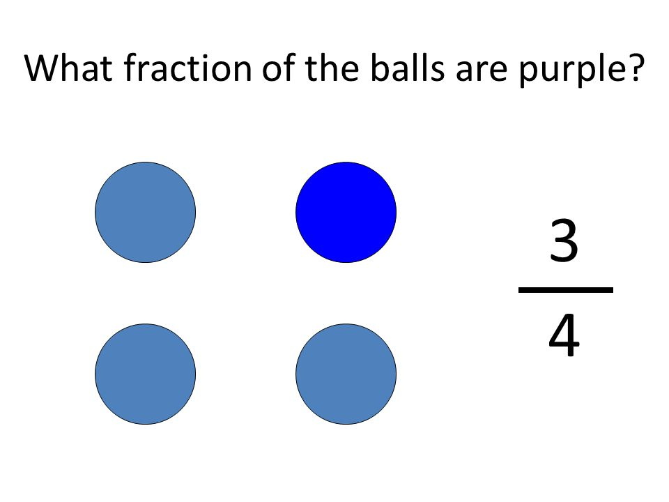 What fraction of the balls are purple