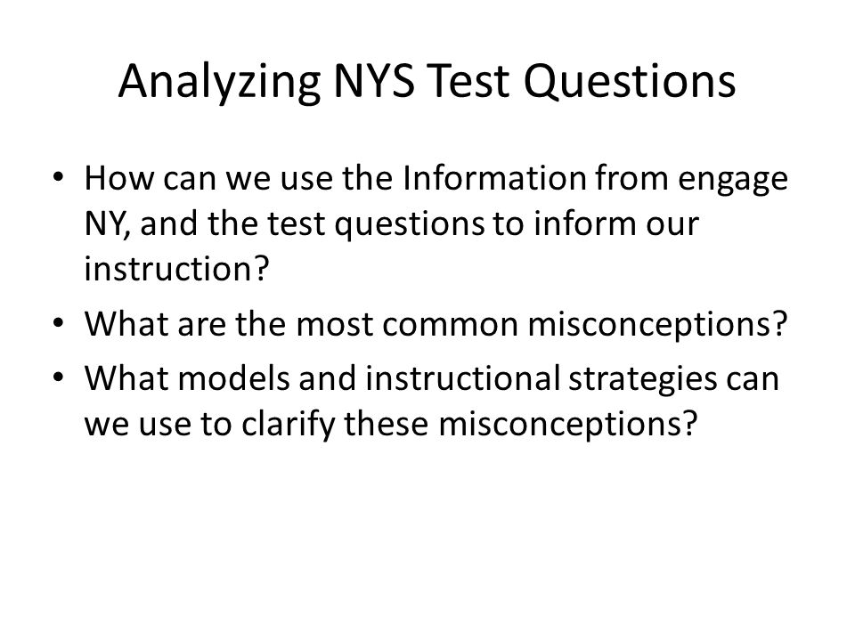 Analyzing NYS Test Questions
