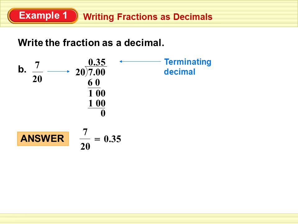 write the decimal as a fraction