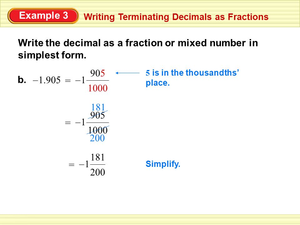 """writing decimals as fractions or mixed numbers A mixed fraction can be expressed in figures to """"fractions, decimals, and book in which we are instructing children how to write out numbers."""