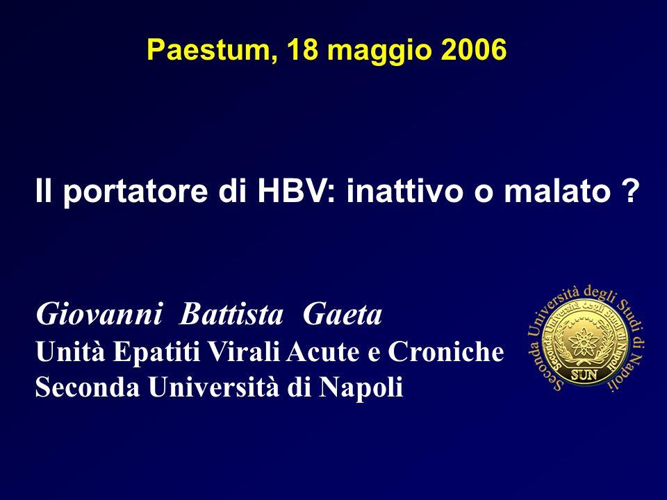 Il portatore di HBV: inattivo o malato
