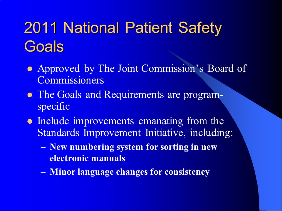 Joint Commission publishes 2018 National Patient Safety Goals