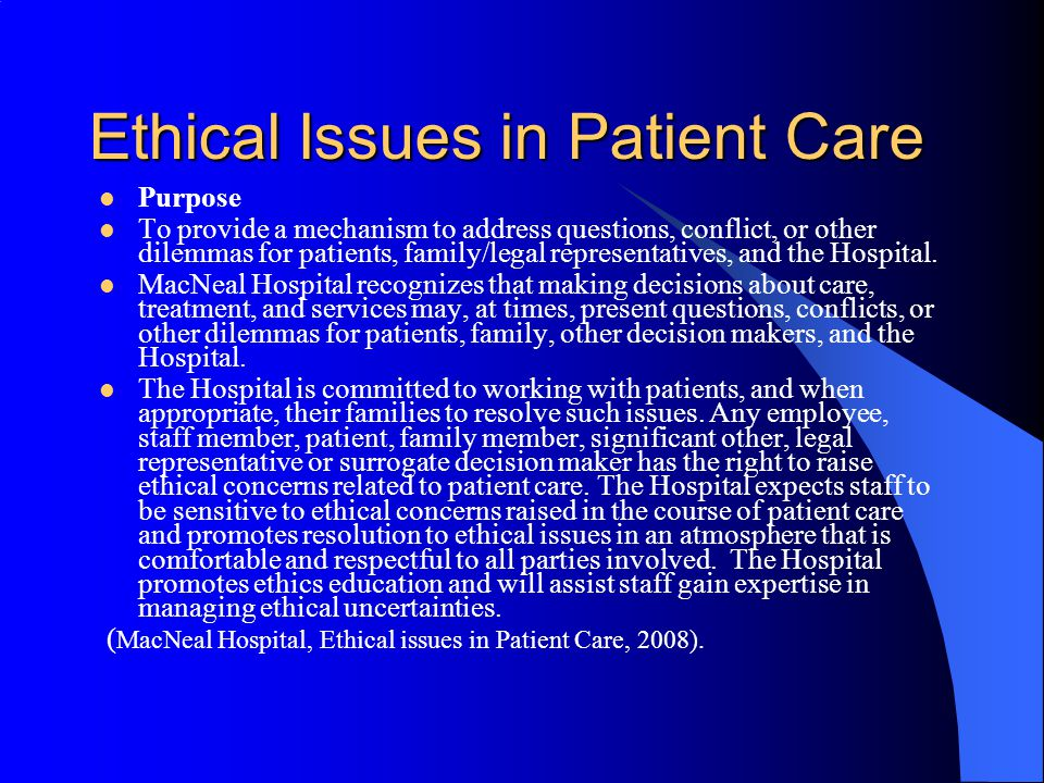 """ethics nurses dating patients Chapter 11 ethics and health  ability for individual patients, community health nurses have a moral accountability for """"how they provide health services."""
