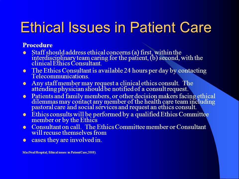 ethical issues facing healthcare You will be able to learn additional useful ethical theories and a specific method  of decision making that should help you resolve ethical problems that arise in.