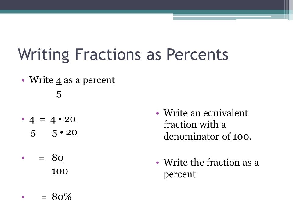 Fractions, Decimals and Percents - ppt video online download