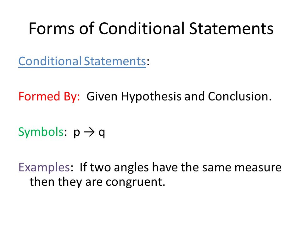 conditional hypothesis thesis